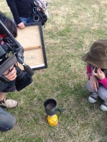 テレビの取材で防災ピクニックに行ってきました